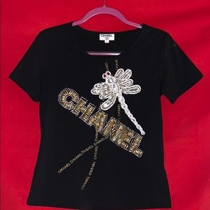 Vintage Chanel Beaded Bling Blouse One of a Kind